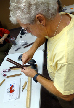Glenn Pastella constructing a reference flute, Flute Haven 2013